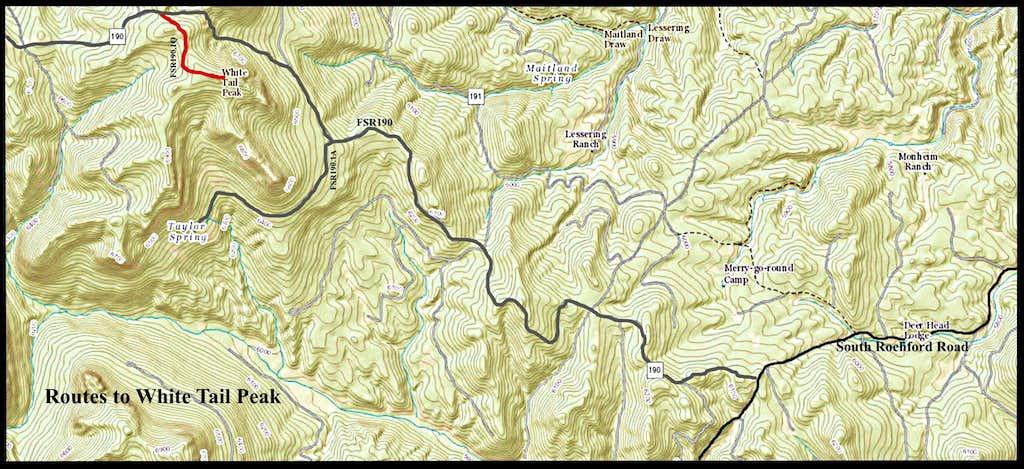 White Tail Peak Route Map