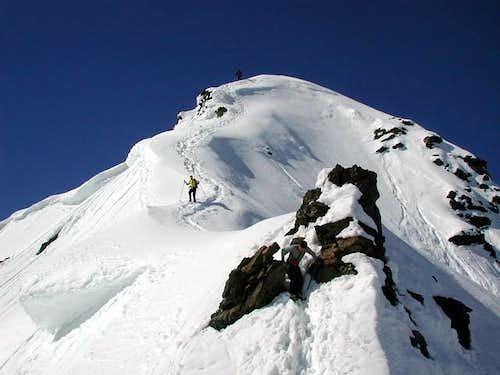 Attacking NW ridge
