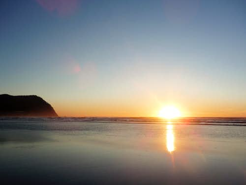 Tillamook Head and the sunset