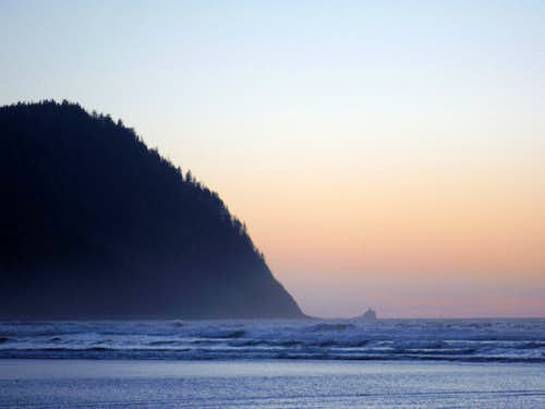 As darkness fall on Tillamook Head