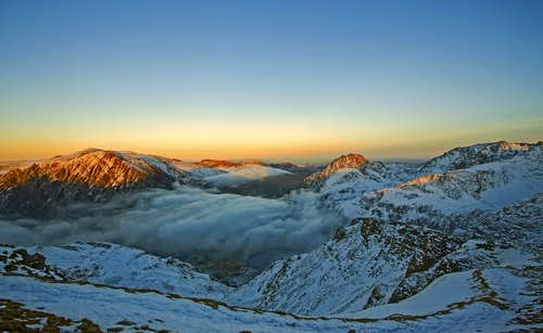 Sunset, Northern Snowdonia