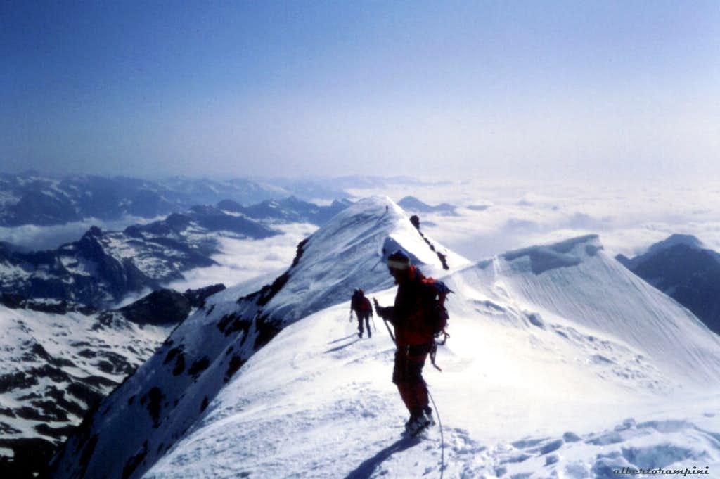 Uja di Ciamarella summit ridge