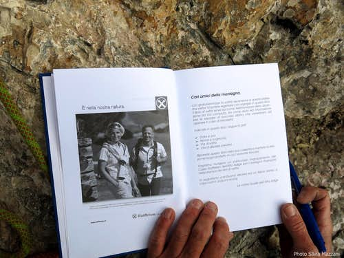 Punta Kaffmann, Via del Libro route-book