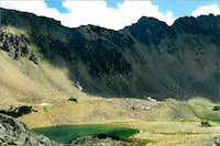 MacLeod Lake from partway up MacLeod Peak