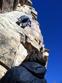 Sport climbing near Walcott Colorado