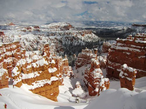 Bryce Canyon in winter -4