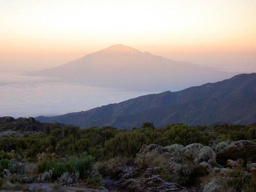 Mount Meru as seen from Shira...