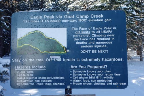 Trailhead Sign.