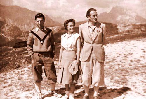 Gino Soldà with Sonia Livanos and Robert Gabriel
