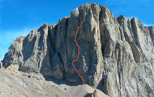 Gino s masterpiece: the Soldà-Conforto route on Marmolada
