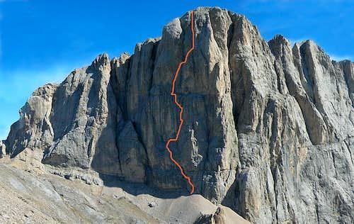 Gino's masterpiece: the Soldà-Conforto route on Marmolada