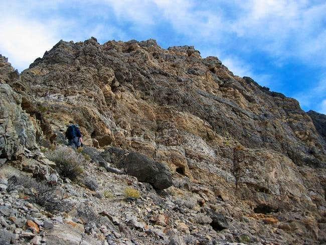 Go around the false summit of...