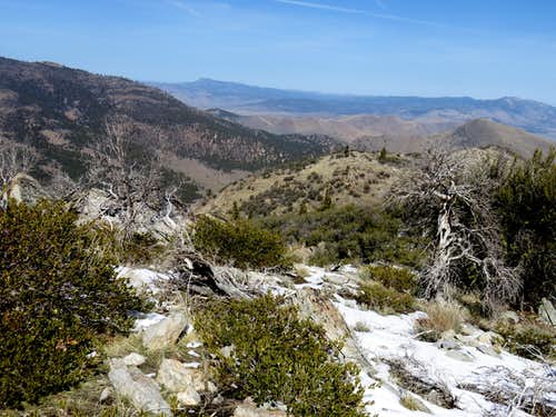 View northwest from Balls Canyon Peak