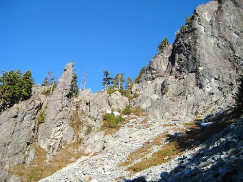 South Ridge route on Mount Phelps at 5000'