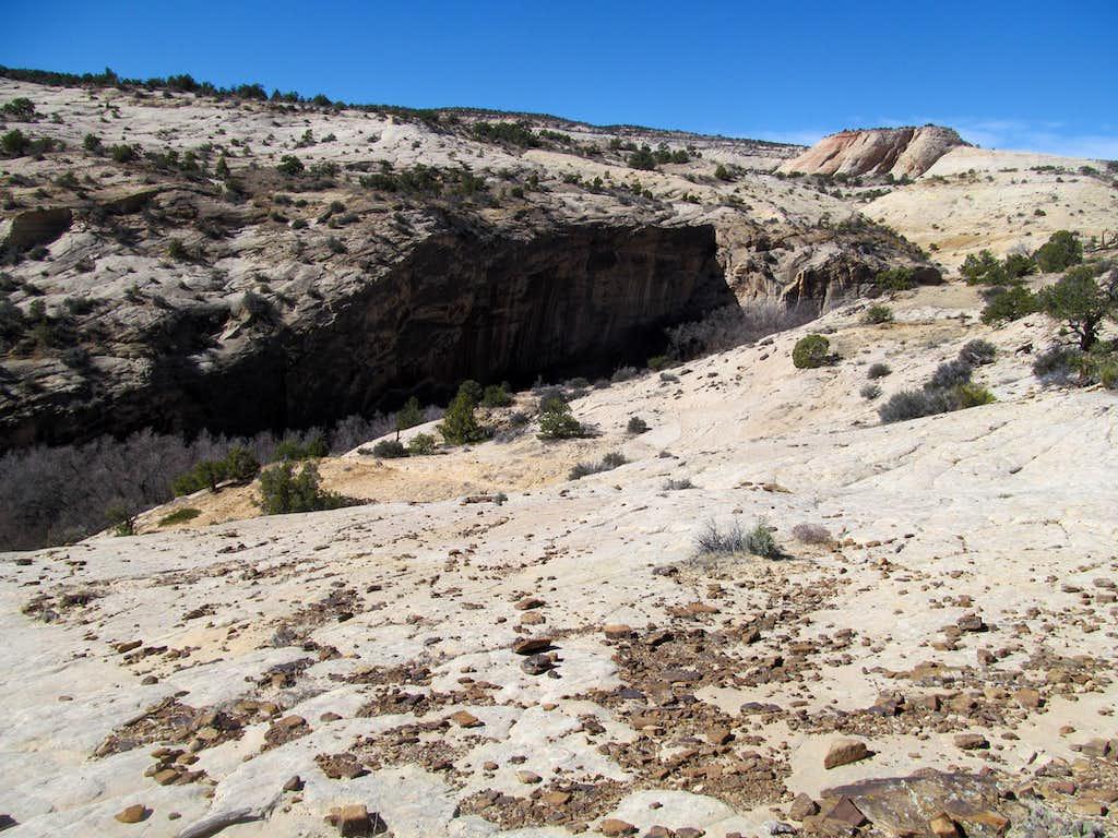 descending towards Upper Calf Creek