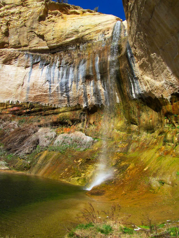 sideview of Upper Calf Creek Falls
