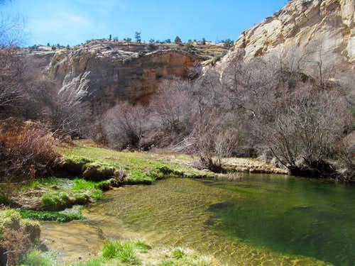 pools in Upper Calf Creek Falls