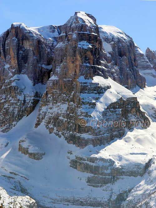 Crozzon di Brenta - winter view