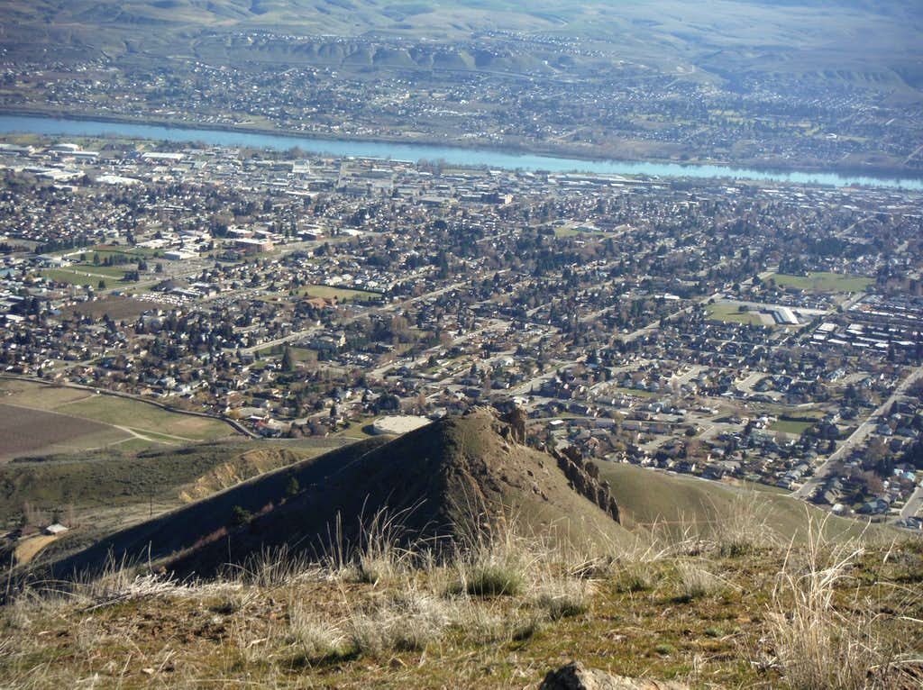 Looking down into Wenatchee