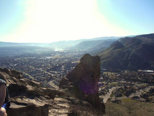 Looking into Wenatchee from Catle Rock