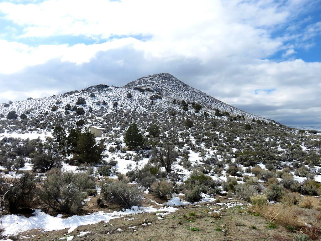 Sugarloaf Peak 5,292' in winter