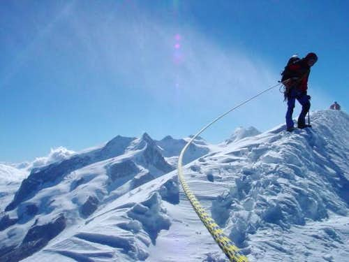 summit of Breithorn on Aug....