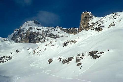 the steep slopes still near...