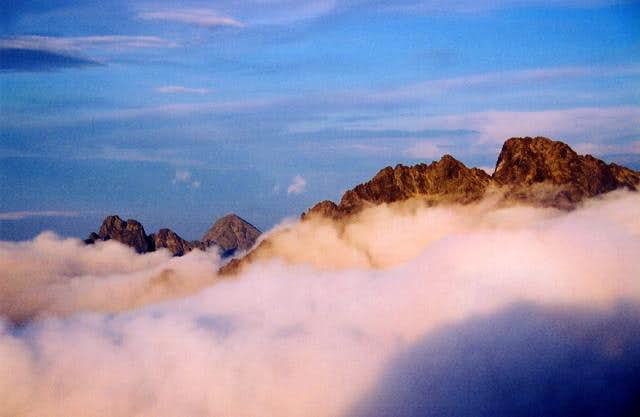 High Tatras above the clouds