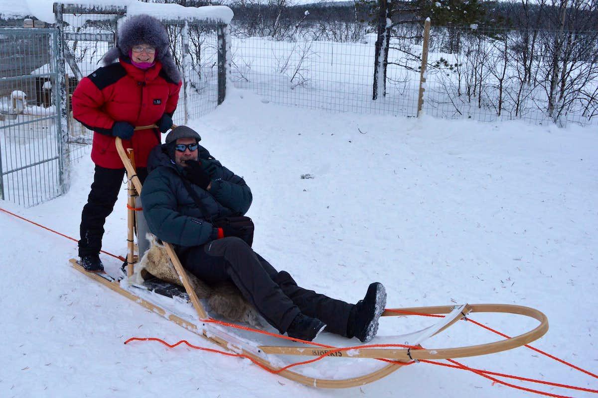 dog sledding in arctic finland photos diagrams u0026 topos summitpost