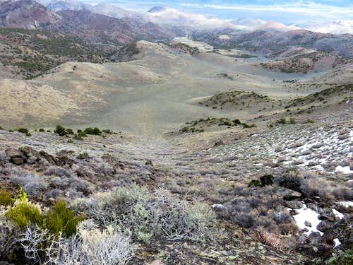 Steep east side of North Pond Peak