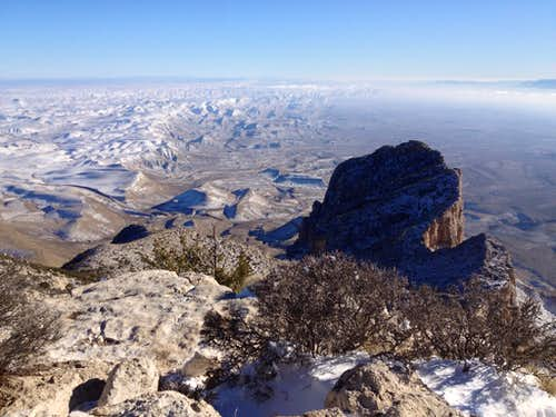 At the top of Guadalupe Peak
