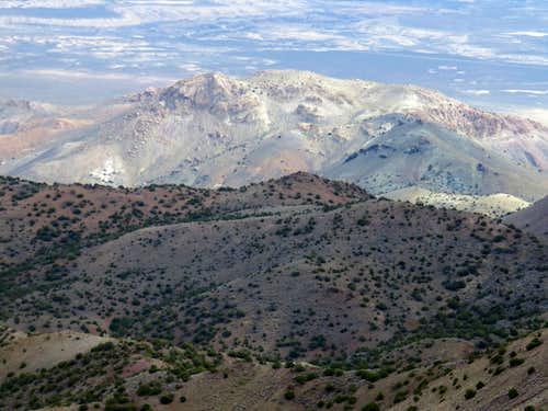 White Hill 5,800' from North Pond Peak