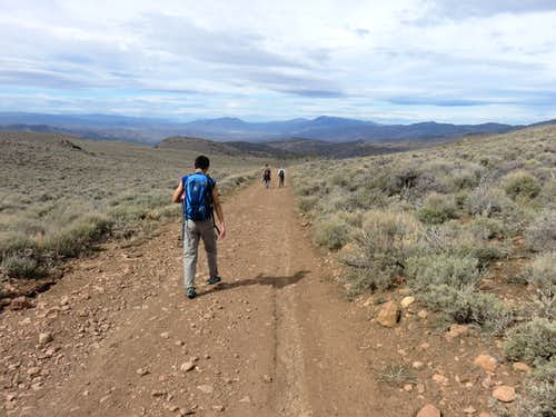 Descending Pond Peak Road