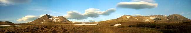 Lenticular clouds near...