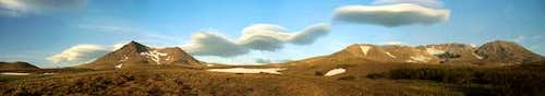 Lenticular clouds near...