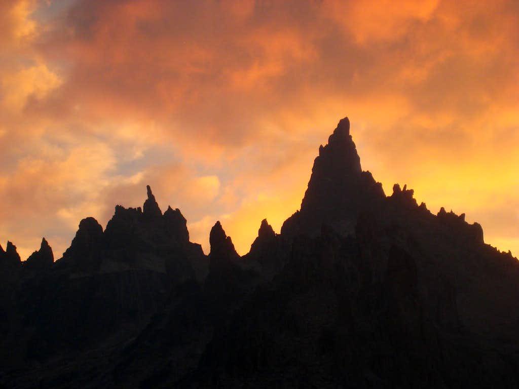 Sunset behind Torre Principal