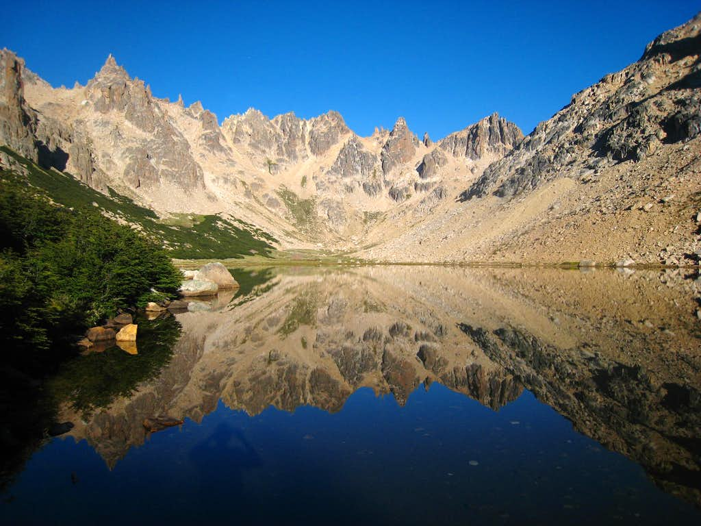 Laguna Frey with perfectly calm water