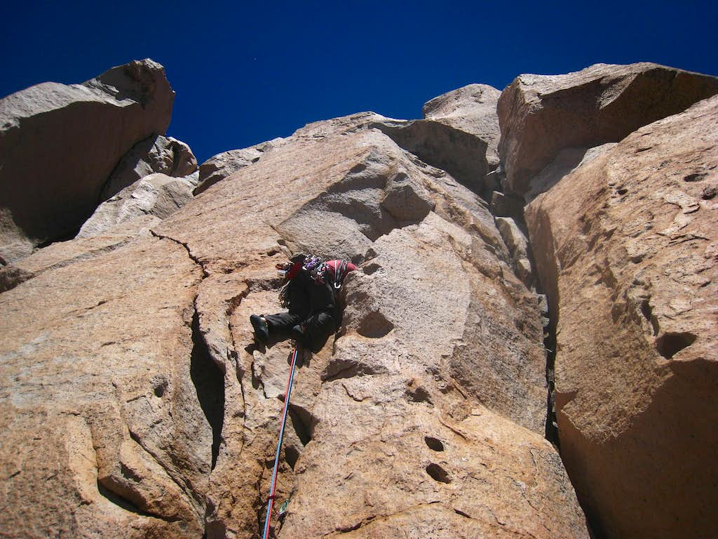 Pitch 2 on the normal route of Torre Principal