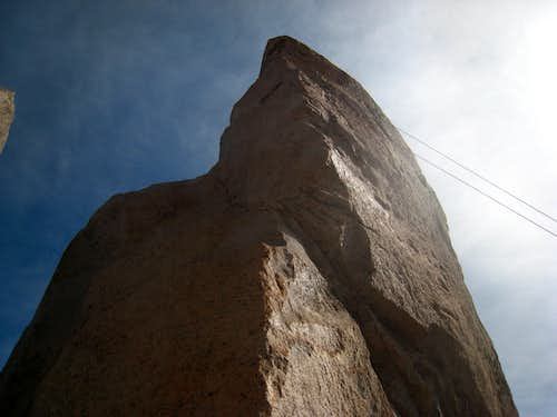 Rapelling the last pitch of Torre Principal
