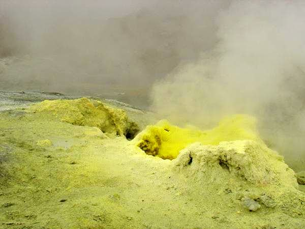 Fumaroles inside the...