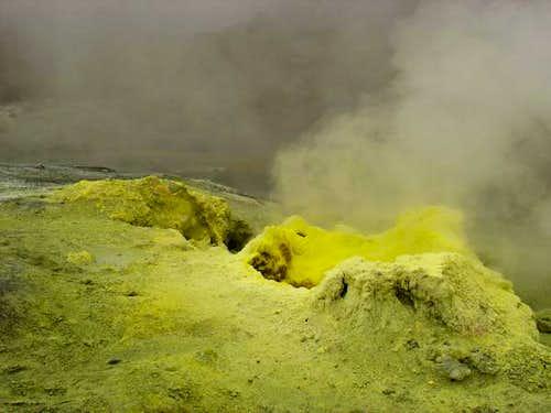 Fumaroles inside the...