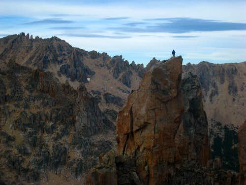 Climber atop M2