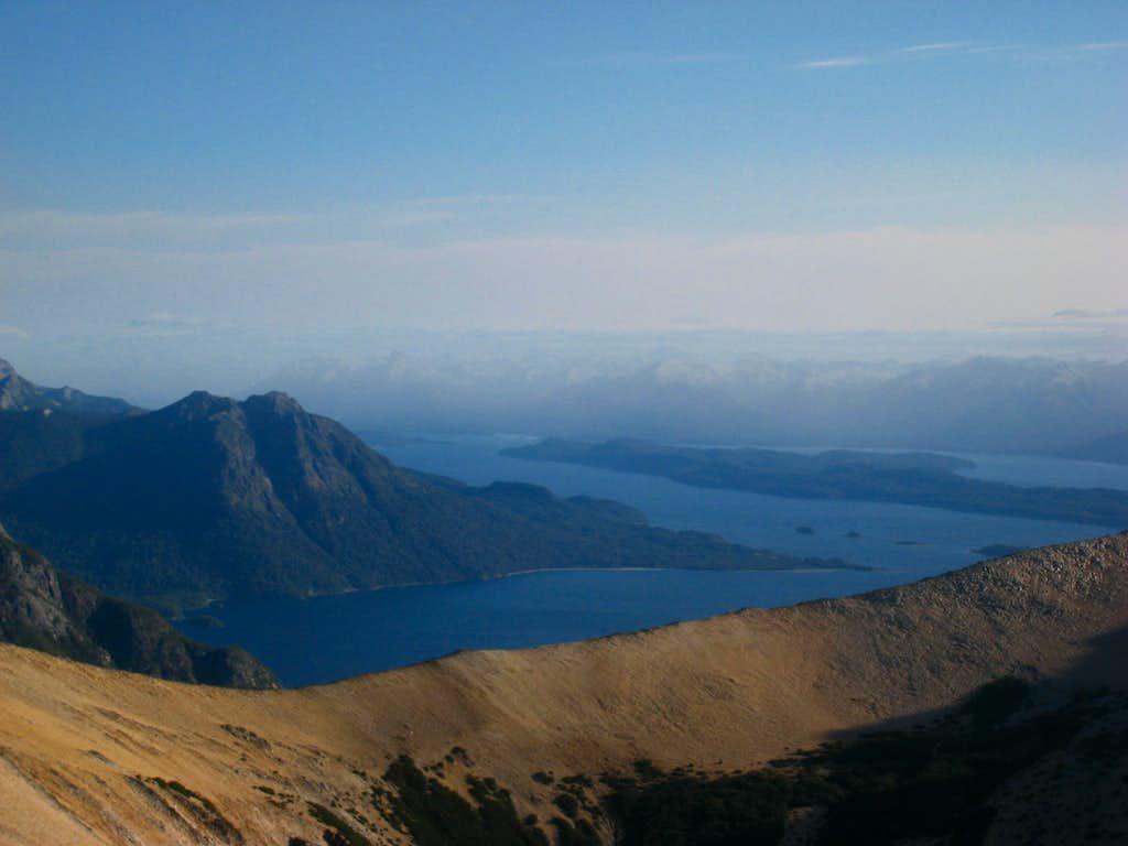 Nahuel Hupai Lake from Cerro Bailey Willis