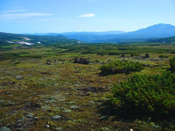 The alpine tundra between...