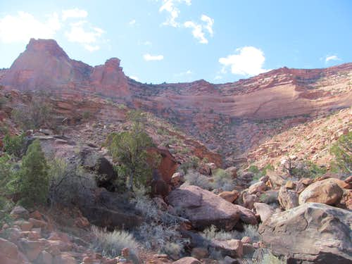 looking back up at the Gooseberry Rim