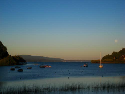 Villarrica Lake at sunrise