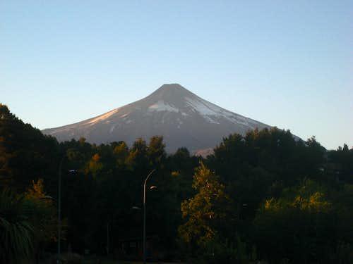 Volcano Villirrica 3 days after it erupted