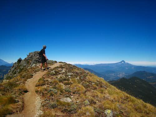 Nearing the summit of San Sebastian