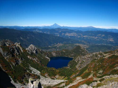 Alpine lake below San Sebastian