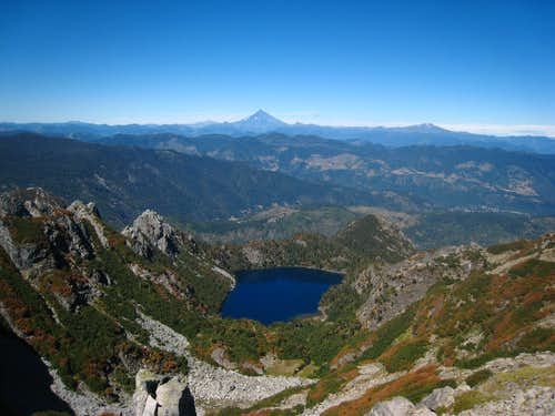 Alpine lake below San Sebastian